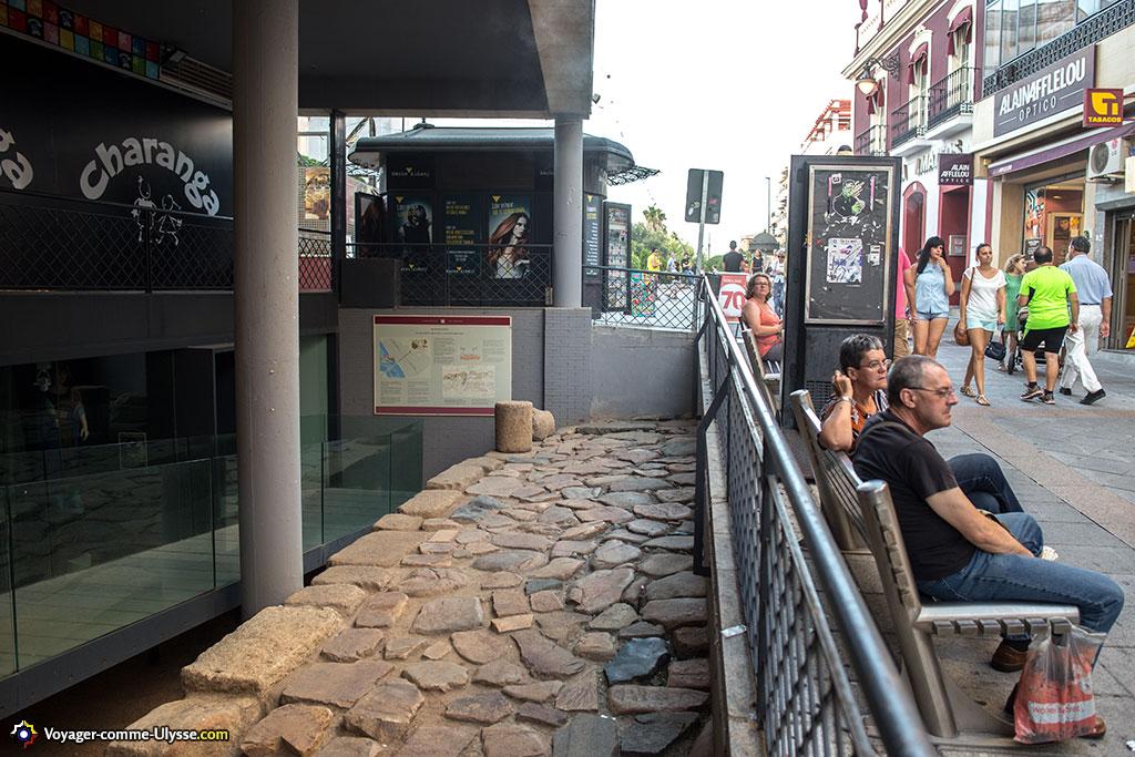 Vestiges du Decumanus Maximus de la ville, rue Santa Eulalia