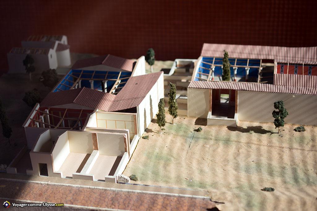 Maquette nous présentant la maison comme elle aurait pu être autrefois.