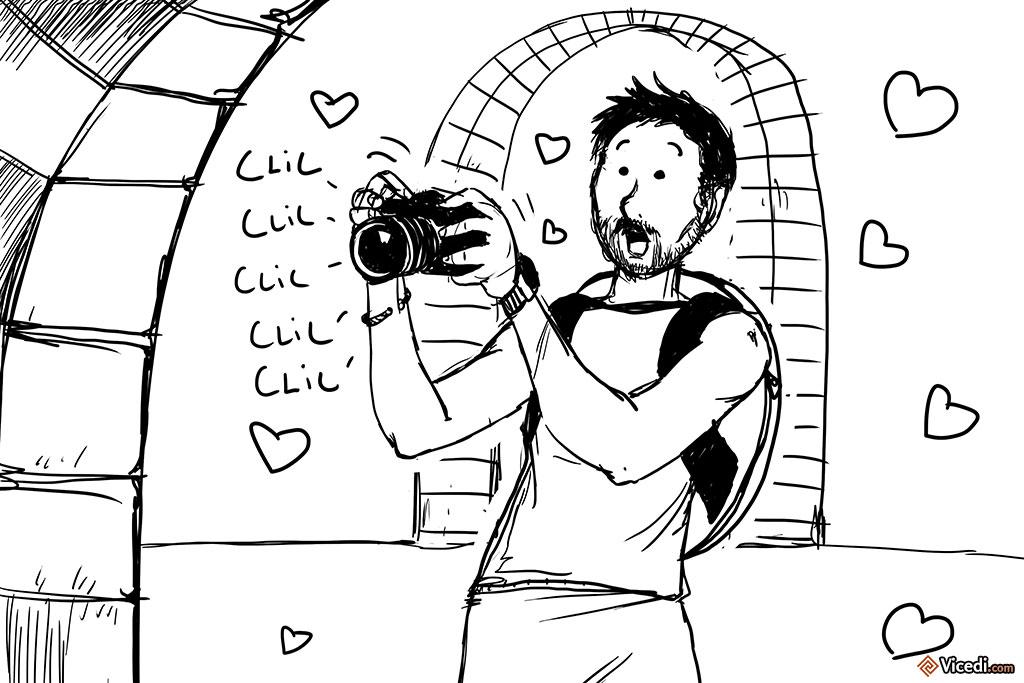Dans ce musée, on peut photographier à loisir. Oui, j'ai fait un dessin vite fait.