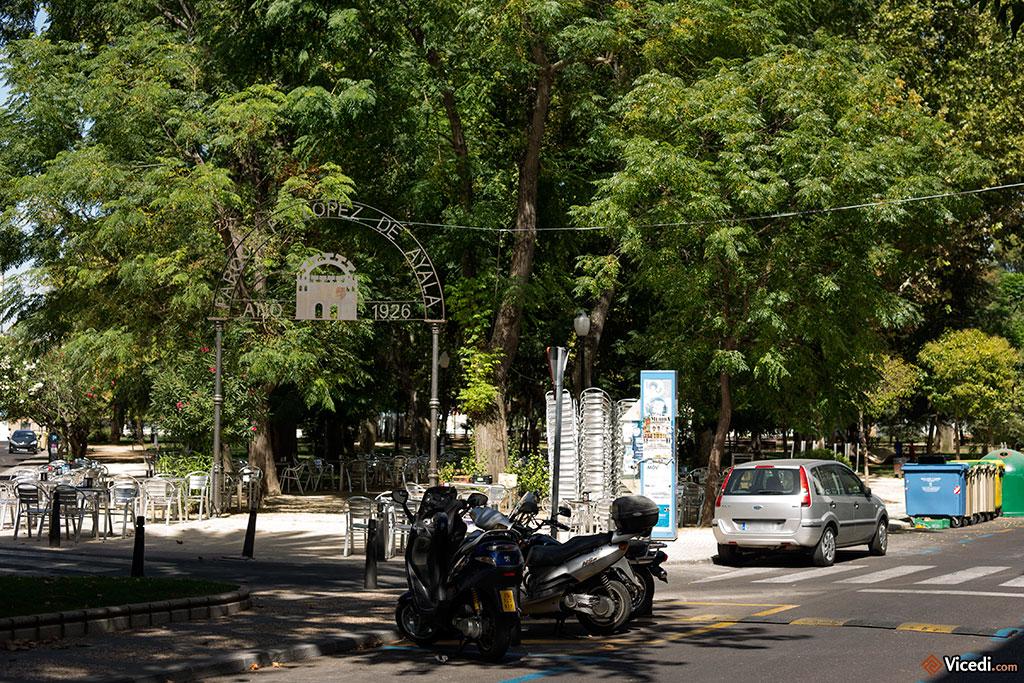 L'entrée du parc Lopez de Ayala, connu à Mérida sous le nom du parc des amoureux.