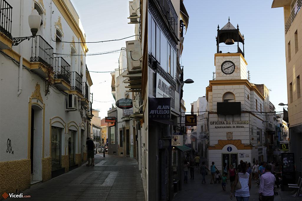 Quand les murs des immeubles sont peints comme il faut, le résultat est sublime. A droite, l'office de tourisme.
