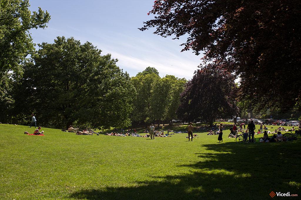 Le parc est le lieu de promenade privilégié des familles, venues se détendre un après-midi avec les enfants