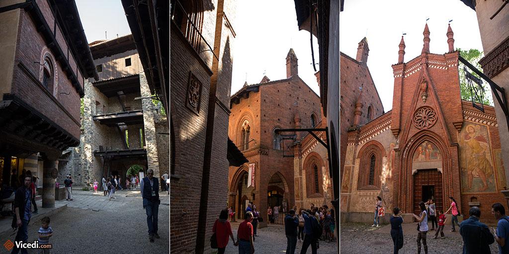 Trois vues des ruelles du Bourg. Même une chapelle a été reconstruite!