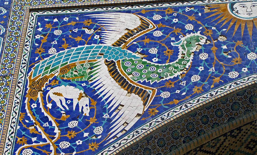 Le Simurgh, oiseau légendaire.