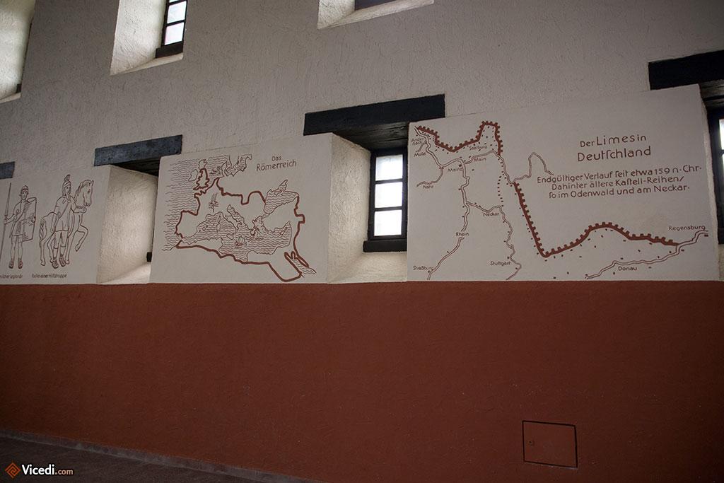 A l'intérieur de la basilique, on a dessiné des éléments pédagogiques.