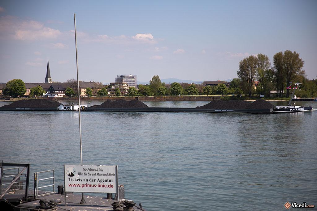 Le Rhin, toujours une artère économique de premier ordre. Bon, on ne peut pas dire que ses berges soient d'une beauté renversante.