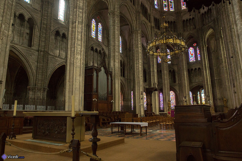 Le choeur de la cathédrale de Bourges.
