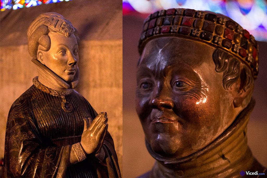 statues de jean de berry et de son épouse