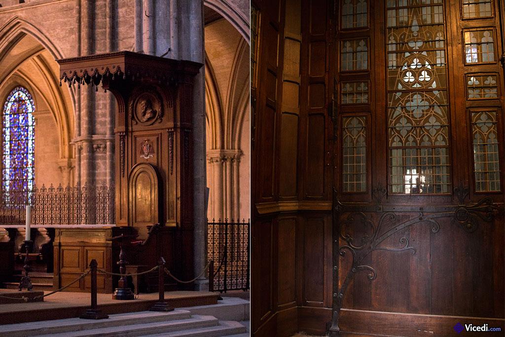 Cathèdre de la cathédrale de Bourges