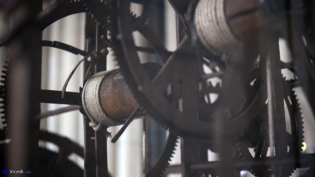 Mécanisme de l'horloge astronomique.