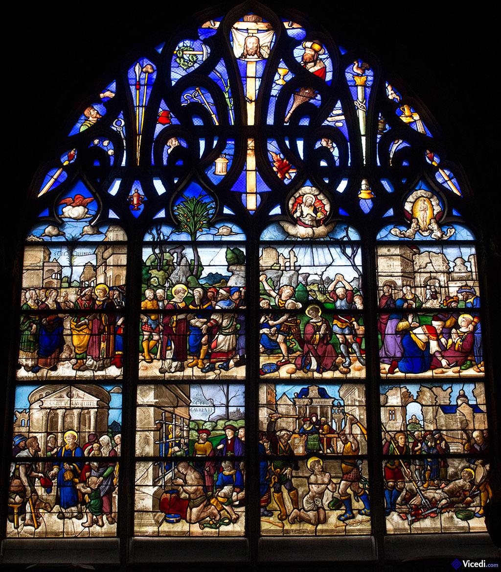 vitrail de la chapelle Coppin