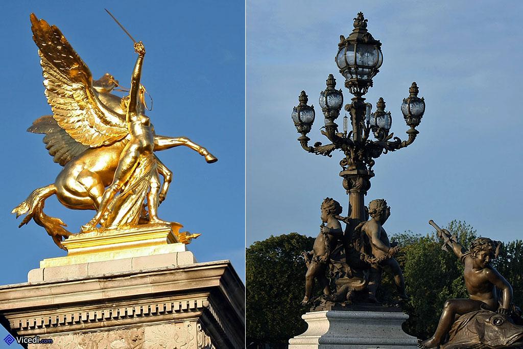 Oeuvres artistiques du pont Alexandre III à Paris