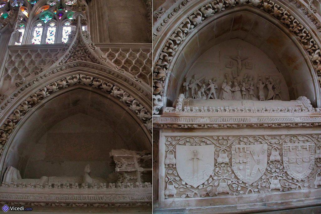 Tombeaux princiers, avec notamment à gauche l'infant Henri le Navigateur.