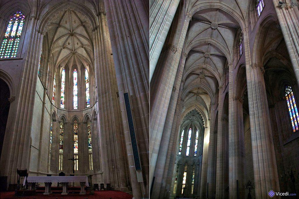 Chœur et nef centrale de l'église.