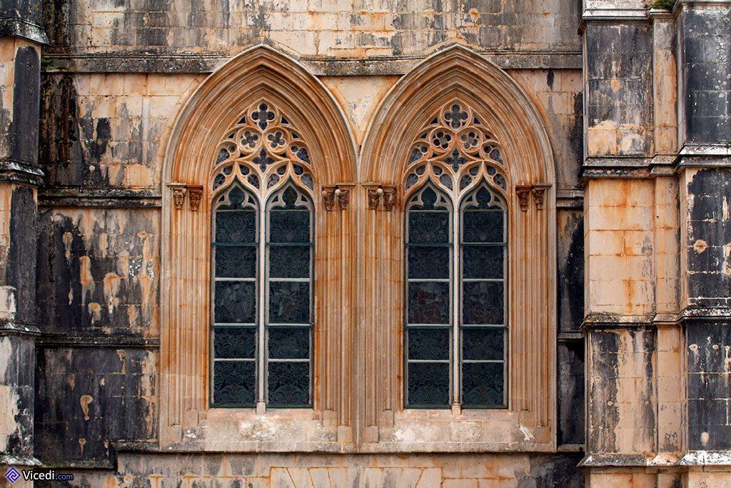 Deux fenêtres de la Salle du Chapitre.