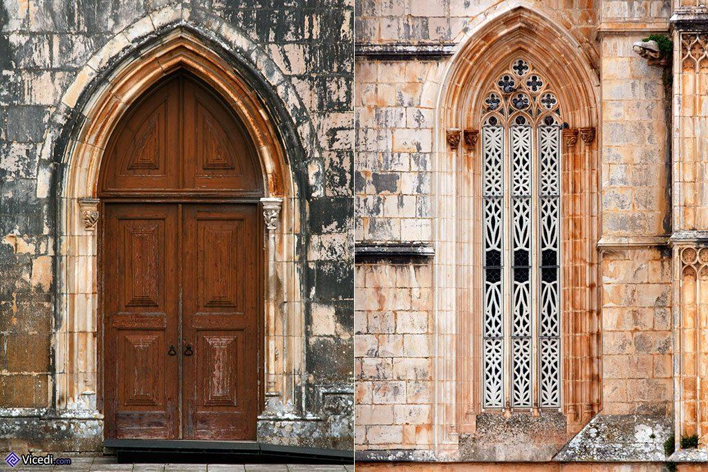 A gauche, un des accès du monastère. A droite, le travail de restauration (ou de reconstruction au goût du jour?)sur cette fenêtre est parfaitement visible.