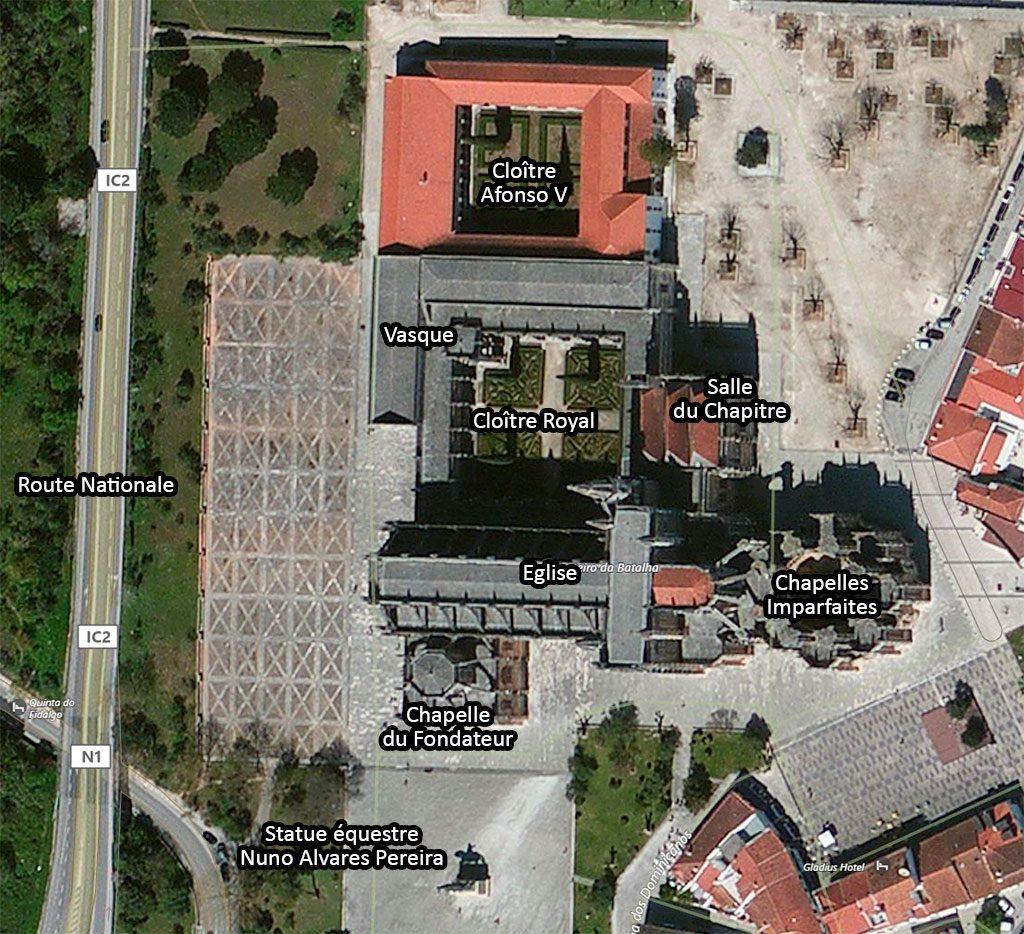 Plan du monastère de Batalha