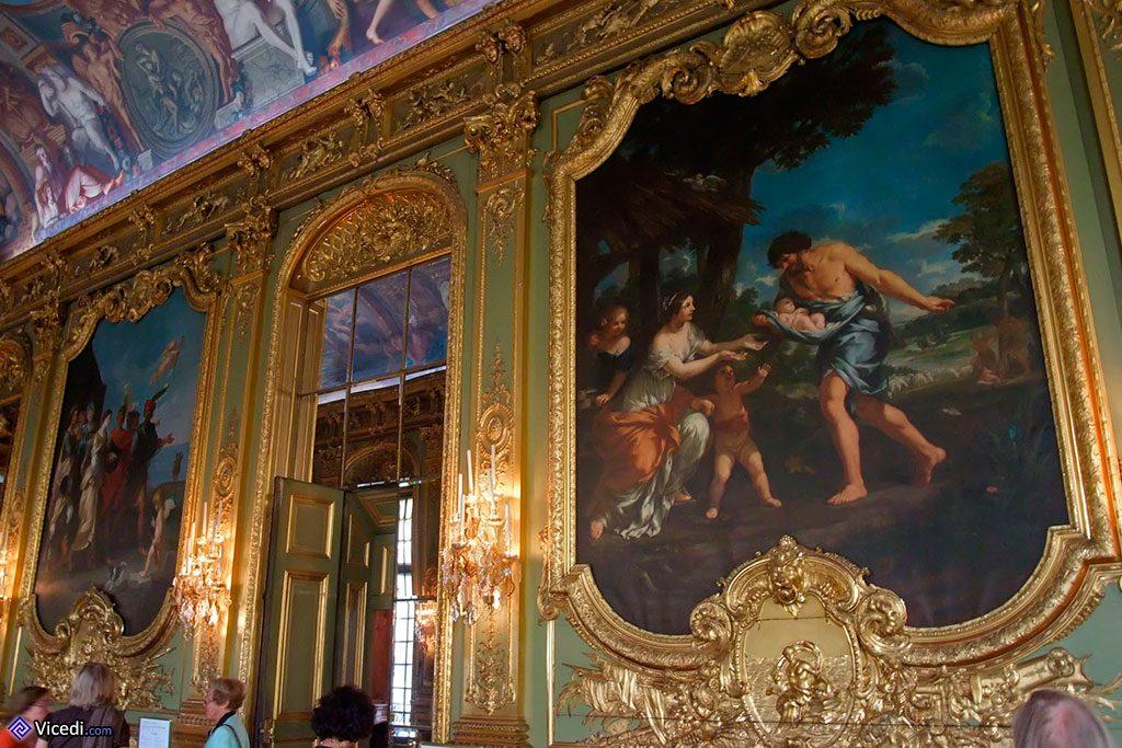 Les tableaux exposés sont des copies des maîtres italiens