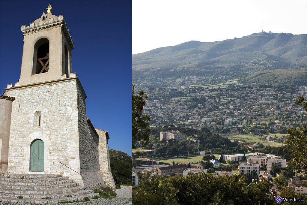 Chapelle d'Allauch et chaîne de l'étoile