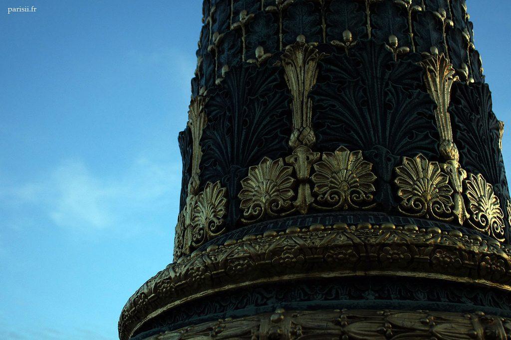 Détail de la colonne d'un lampadaire