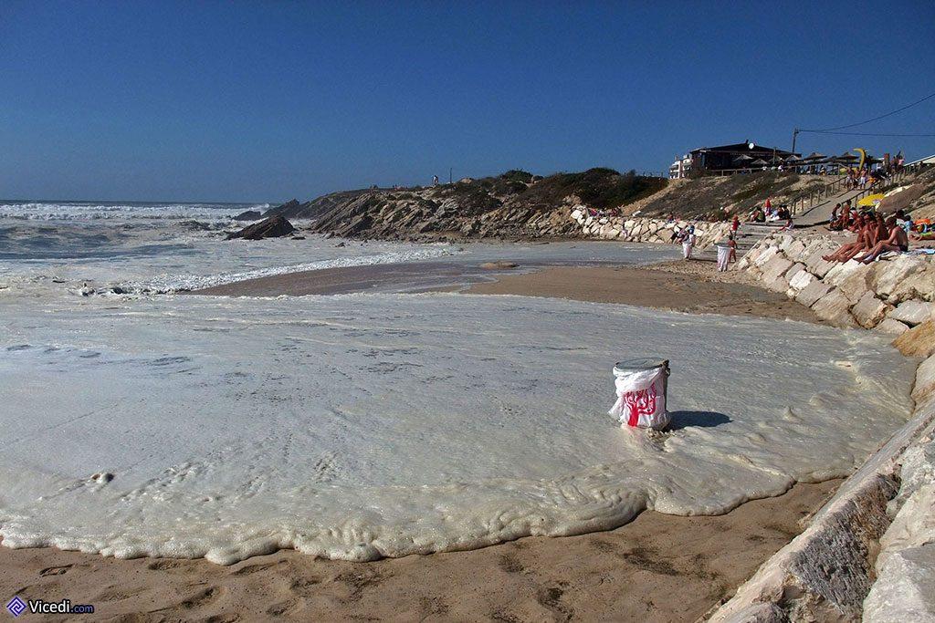 Poubelle à la plage