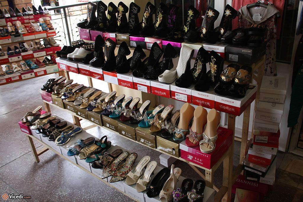 chaussures bling-bling de femme ouzbèk