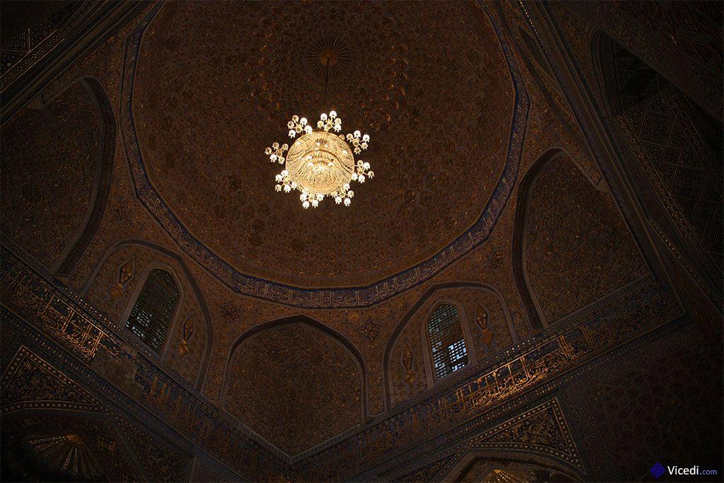 intérieur du dôme du Gour Emir