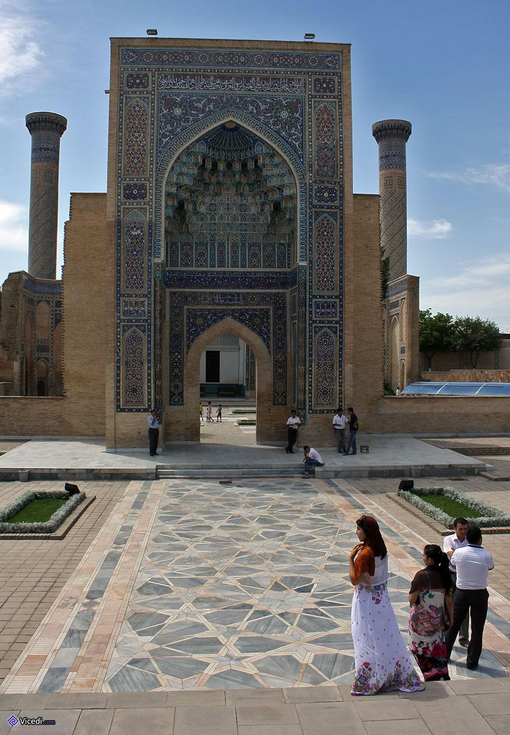 La porte monumentale d'Ulugh Beg