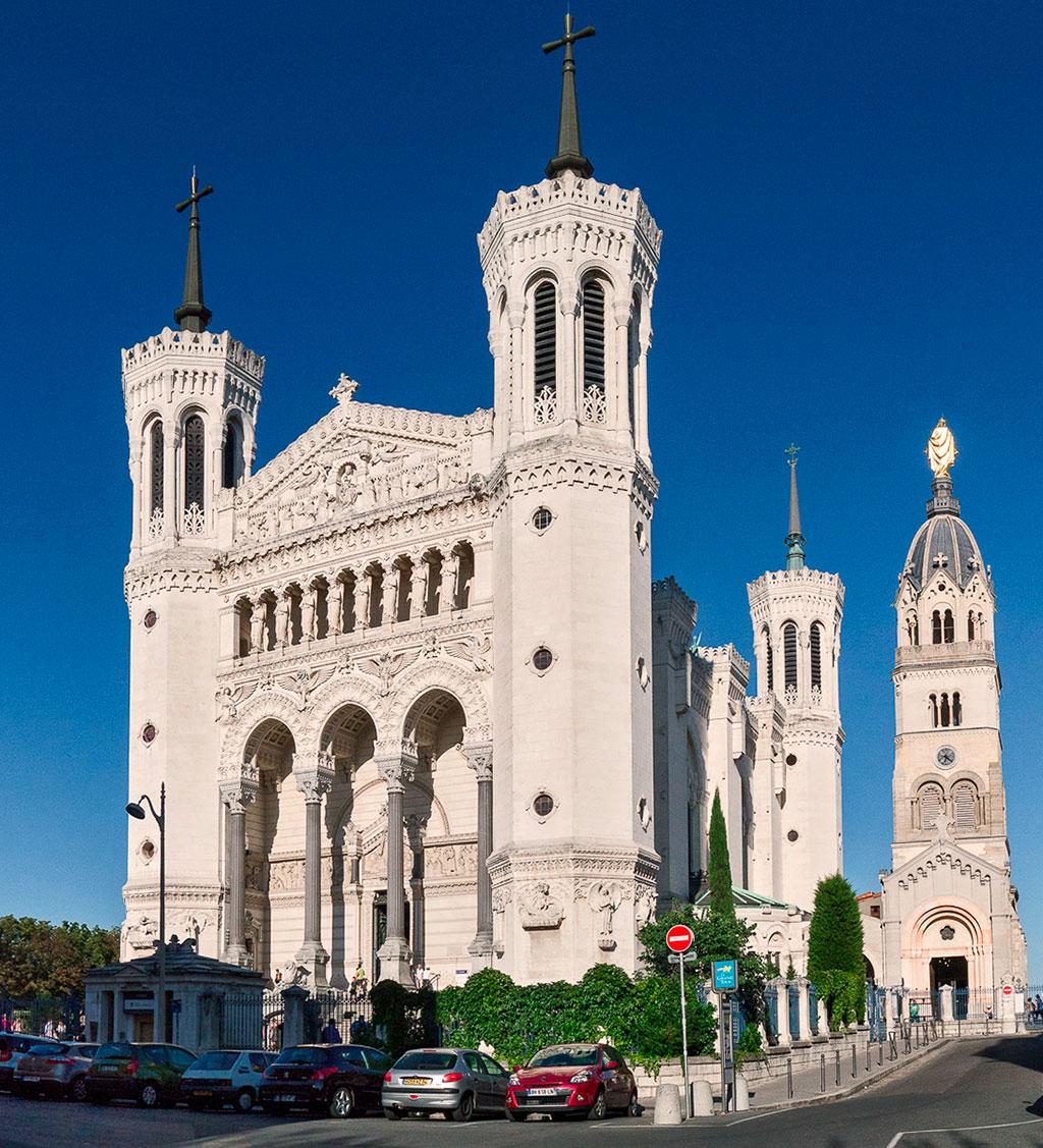 Basilique Notre Dame de Fourvière, façade occidentale