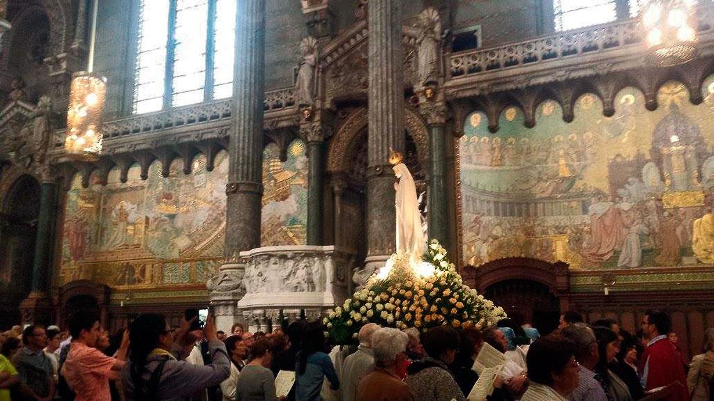Visite de l'image de Notre Dame de Fatima