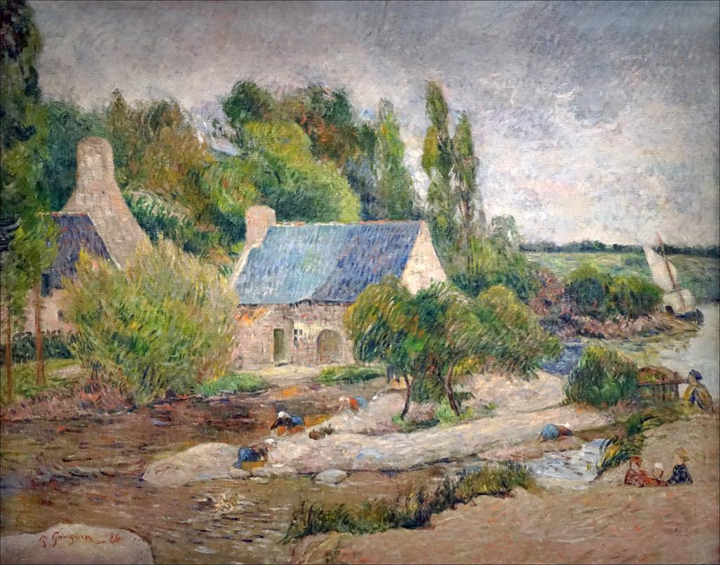Les lavandières à Pont-Aven, Paul Gauguin