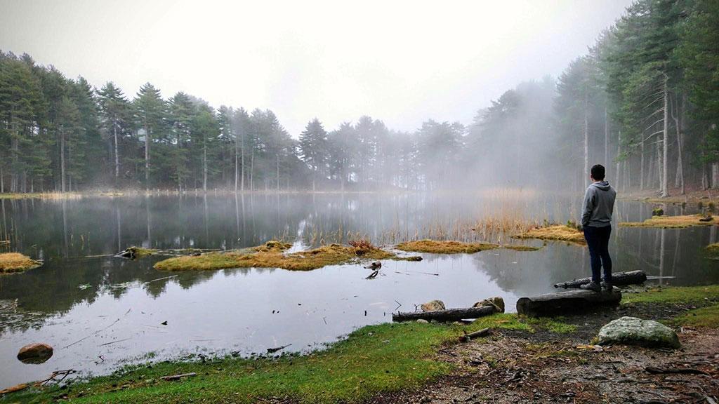 Lac de Creno, sublimé par son écrin de pins